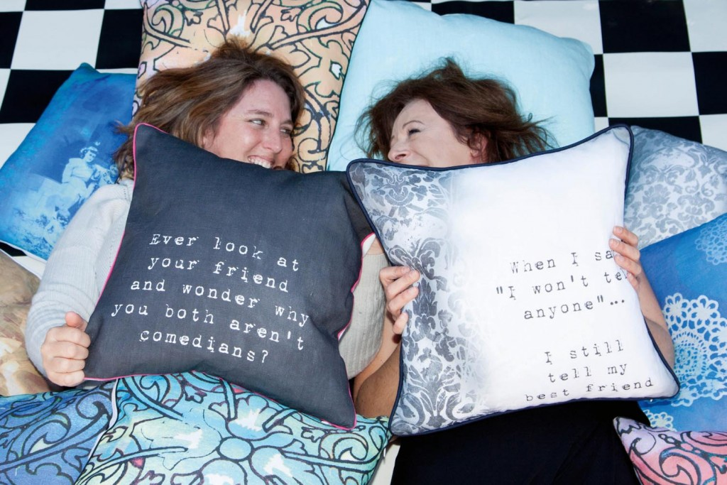 Eriana & Lynie - creators of the Sisterhood Cushion Collection