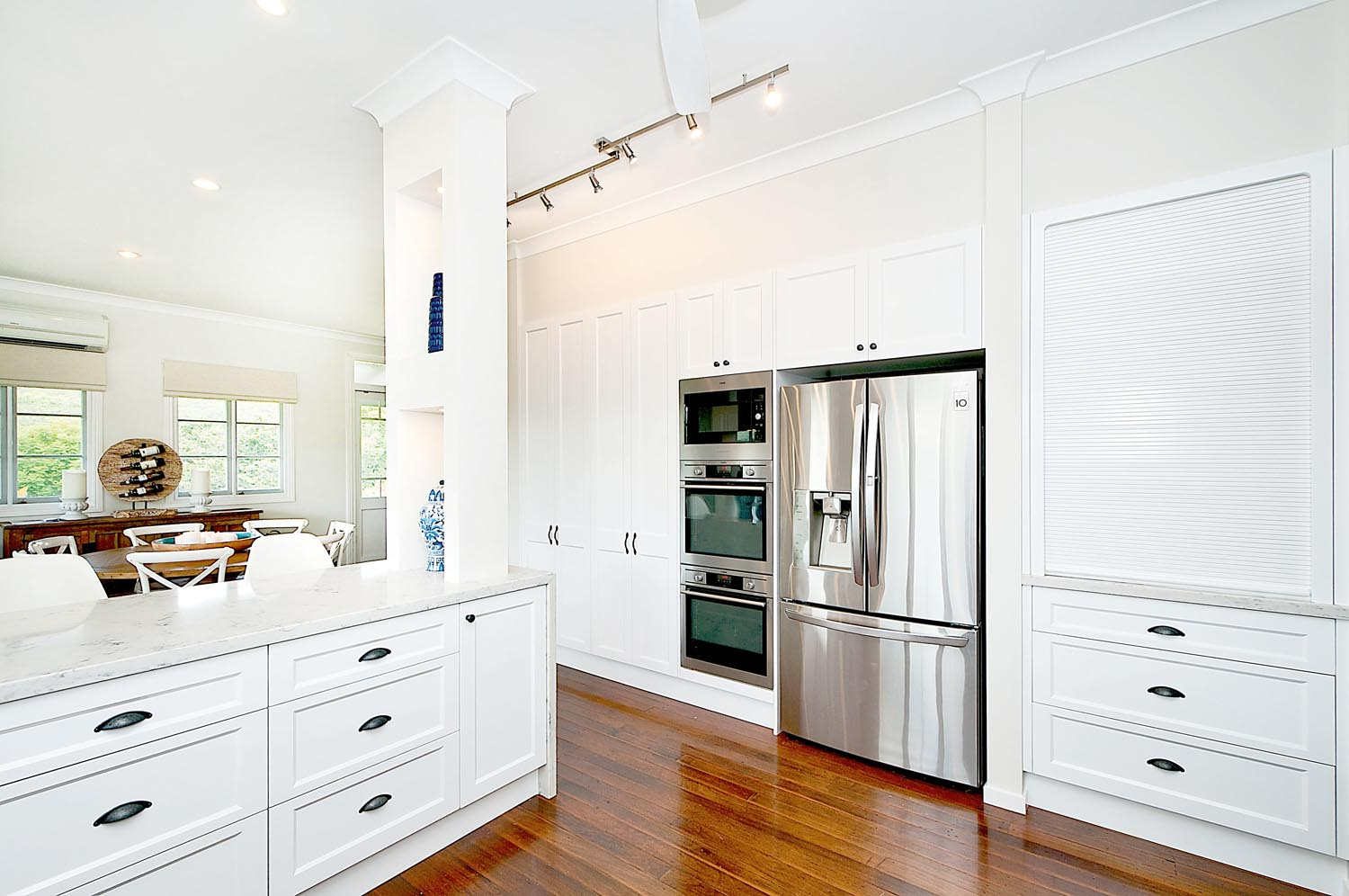 There's plenty of bench space in this spacious kitchen