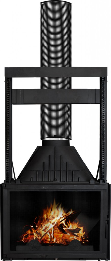 French style: cast iron heater