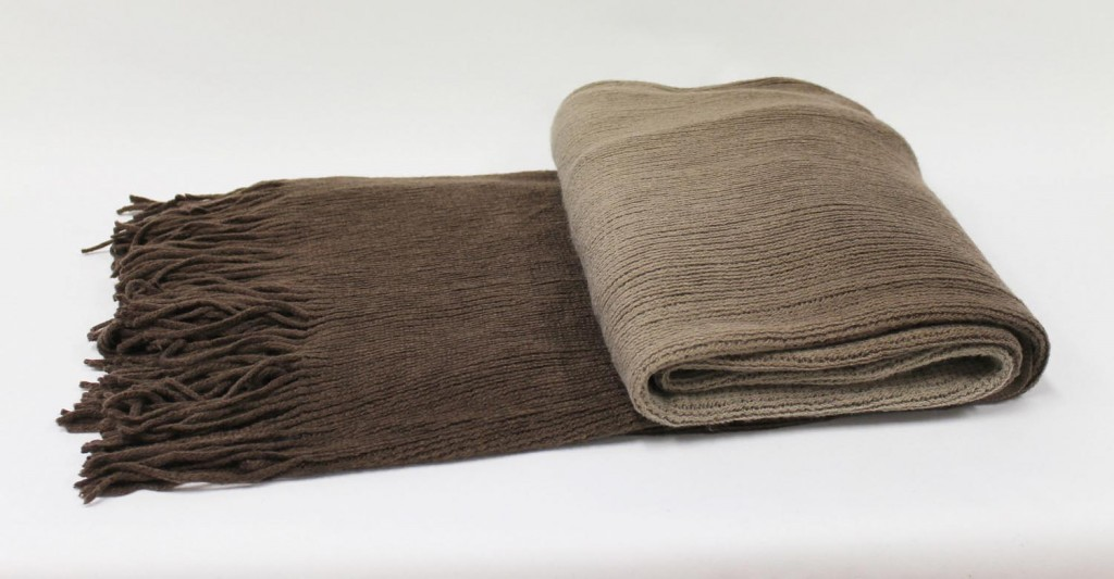 Ombre Throw in Mocha