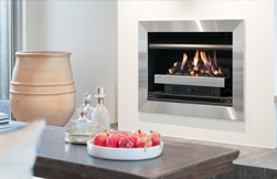 Using a gas fire as decorative feature