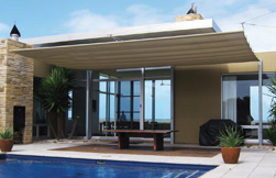 Safe outdoor living:  Fixed and retractable shade systems
