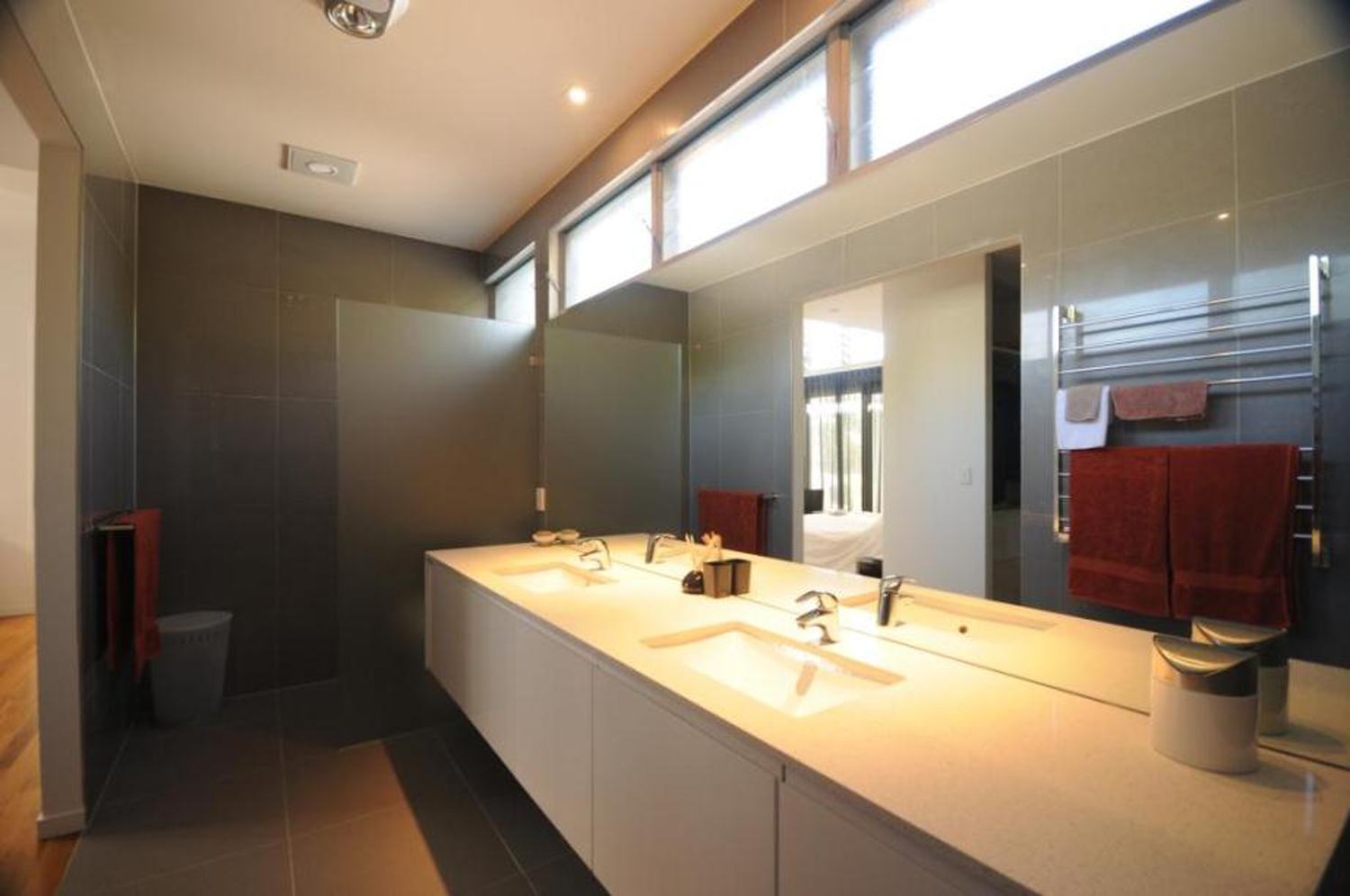 Altair Louvres up high in bathrooms