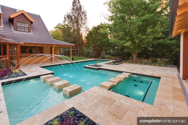 Family fun pool design completehome Interesting pool designs