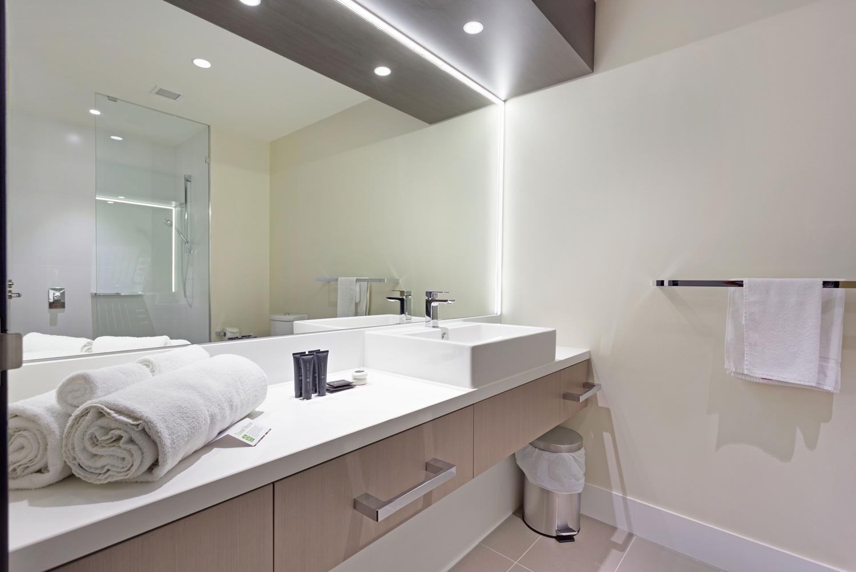 Bathroom with glass coating
