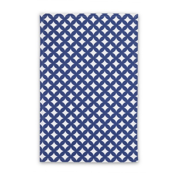 Circles Tea Towel Blue Pack  Marine
