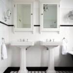 Art Deco-inspired bathroom design