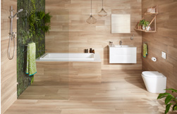 Simple, organic and timeless: bathroom design and accessories