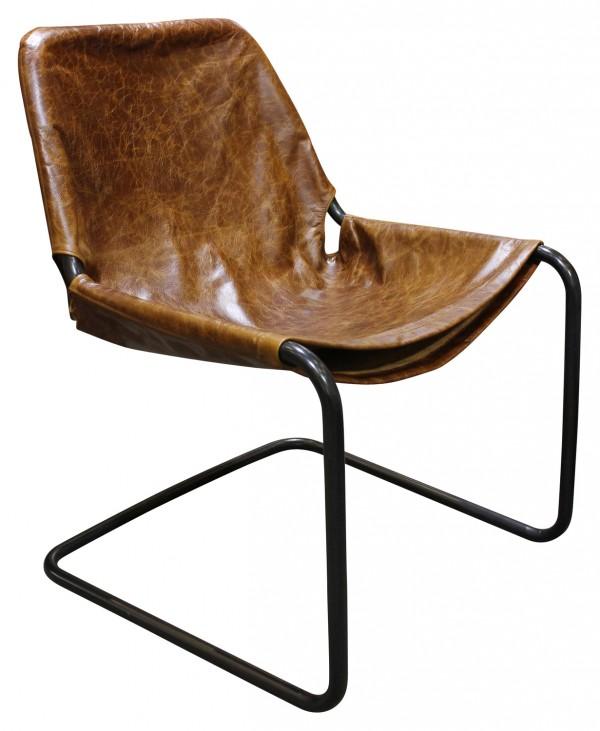 Max side chair in tan leather, orsonandblake.com.au