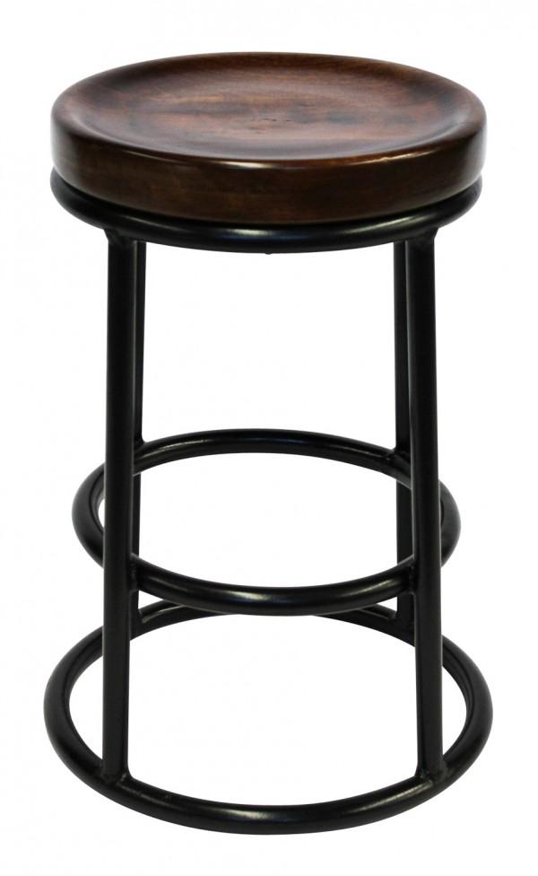 Stirling stool with metal base and timber, orsonandblake.com.au