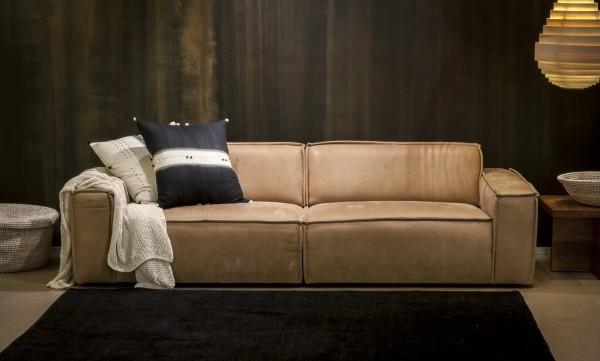 Edge sofa in soft tan leather, spenceandlyda.com.au