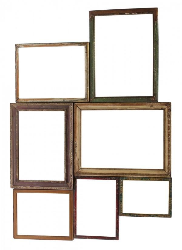 Vintage mirror cluster in timber,  orsonandblake.com.au