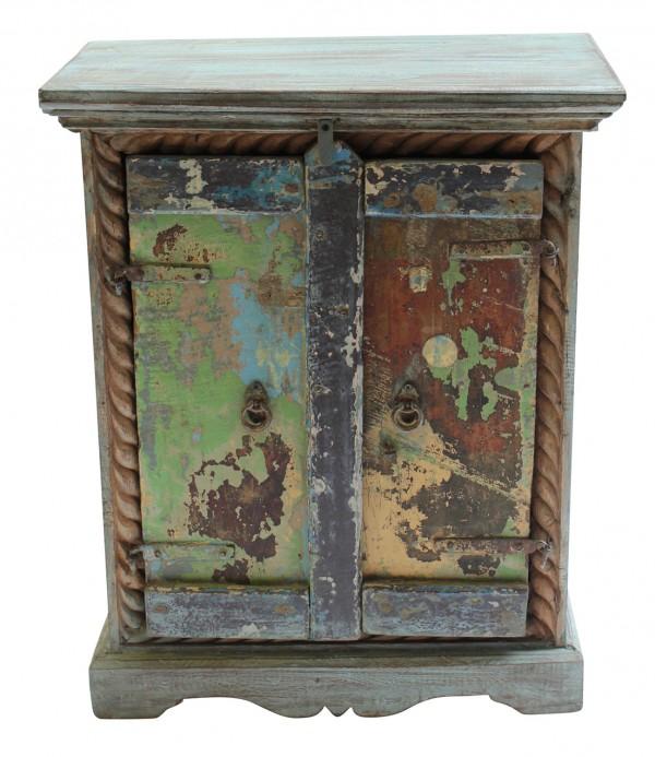 Small two-door cabinet in antique finish, $495, orsonandblake.com.au