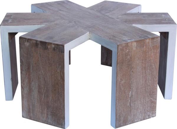 Asterisk coffee table in washed white, orsonandblake.com.au