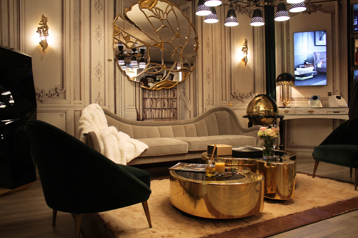 Isaloni 2015 design trends mixed metals completehome for Arredamento lussuoso