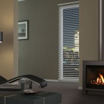 Fresh and sophisticated: freestanding gas fireplace