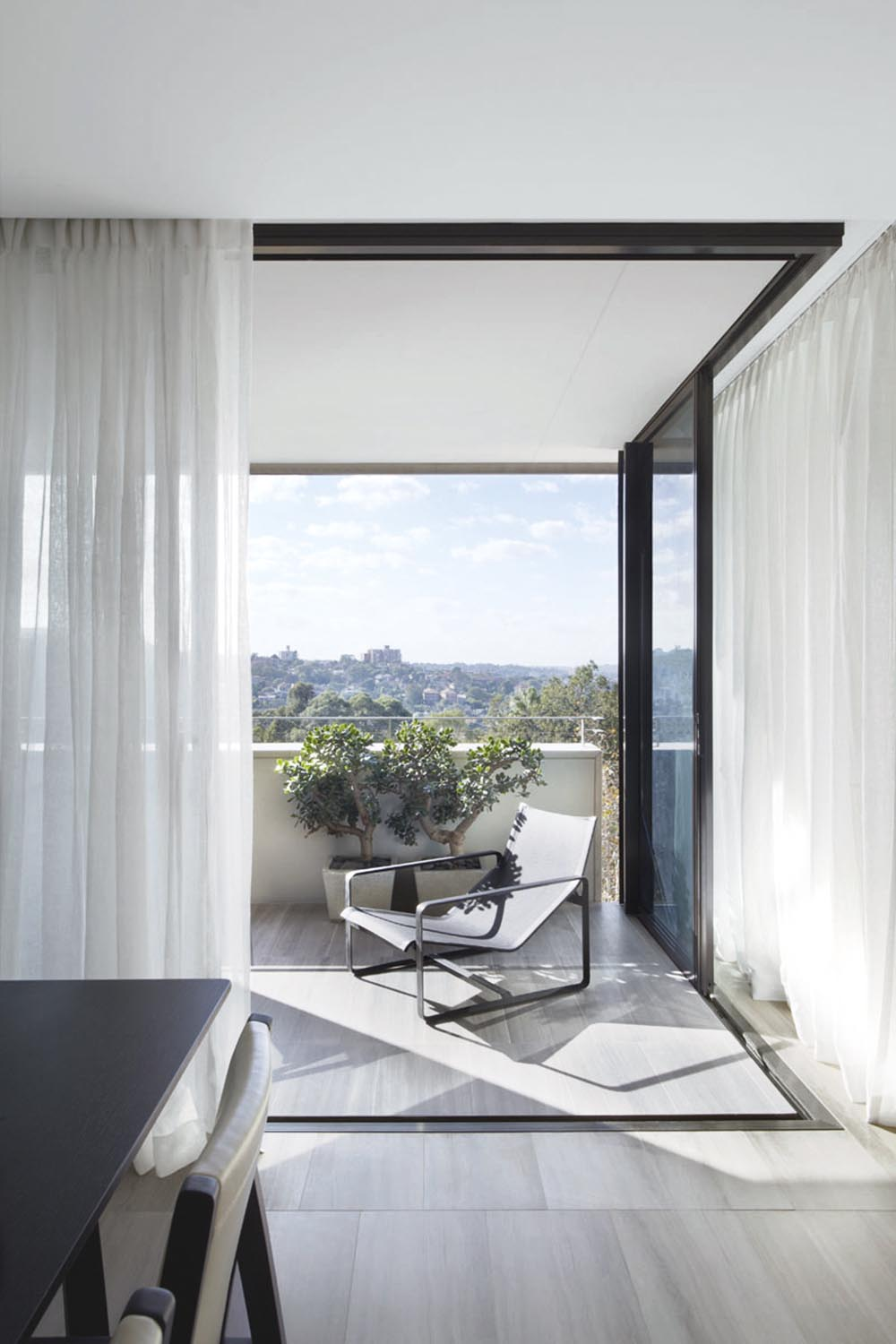 Apartment-dwellers can still enjoy the outdoors with a sun-bathed balcony