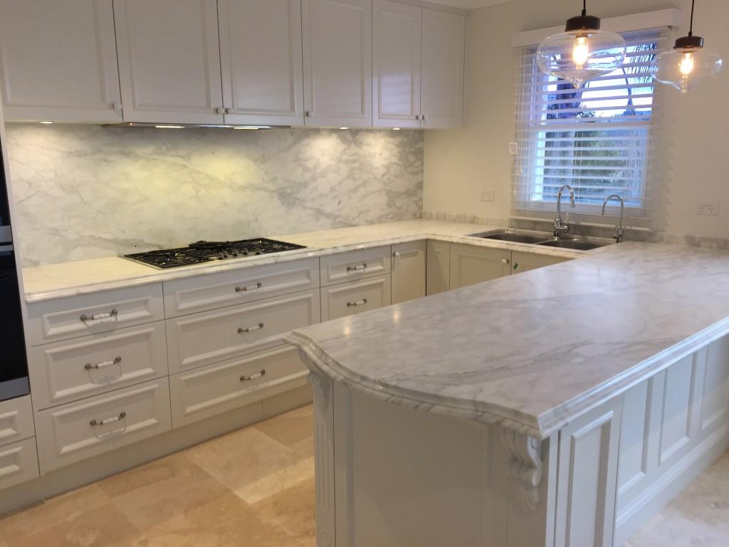 White classic kitchen bench marable