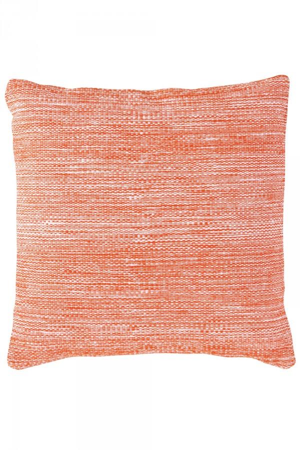 Mingled tangerine indoor–outdoor pillow, $80, freshamerican.annieselke.com