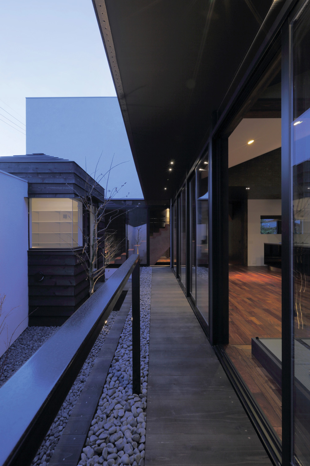Traditional sliding doors ensure the elements can be enjoyed throughout the seasons