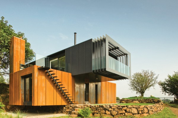 County Derry shipping container house by Patrick Bradley