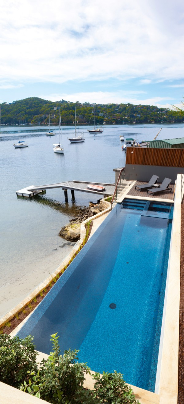 Waterfront pool design by A Total Concept