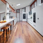 Family hub: galley-style kitchen