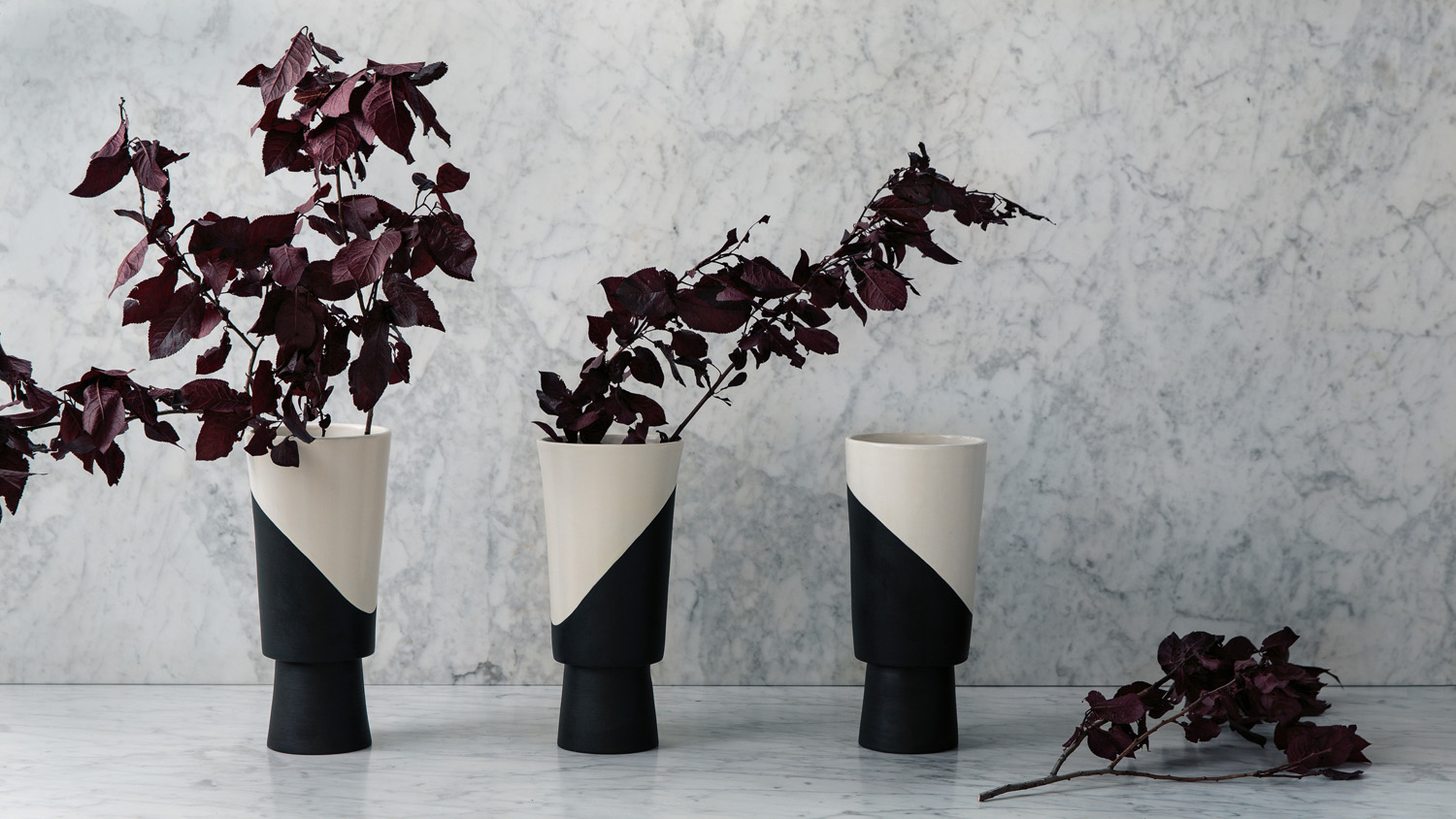 Shift vase series by Jeremy Anderson, $1760, criteriacollection.com.au