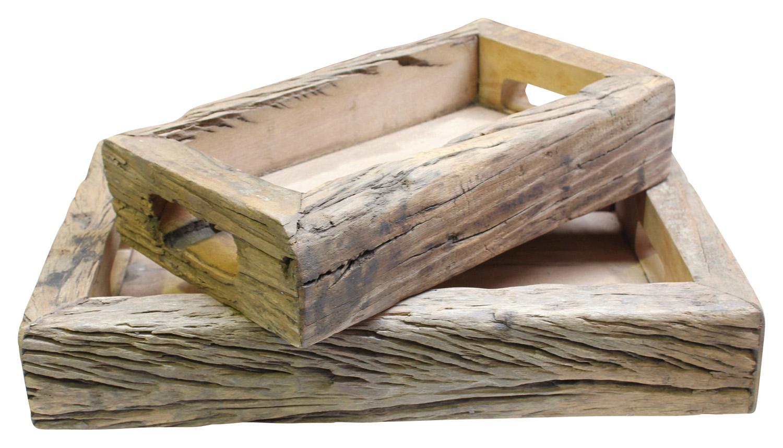 Vintage timber tray set, $165, orsonandblake.com.au