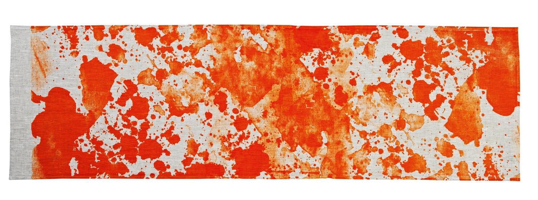 Orange watercolour  table runner, $75, bonnieandneil.com.au