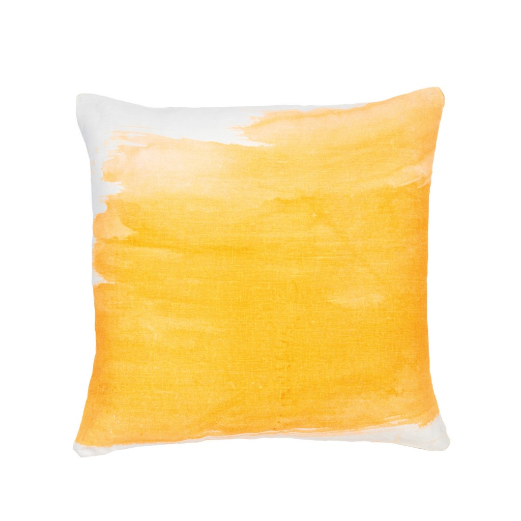 Splash fluoro orange cushion, $155, bonnieandneil.com.au