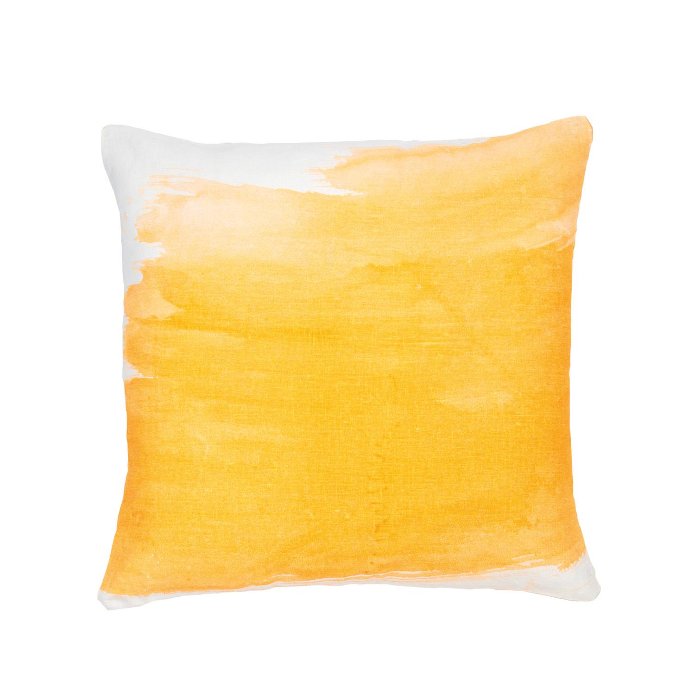 Splash fluoro orange cushion, $155, bonnieandneil.com.au