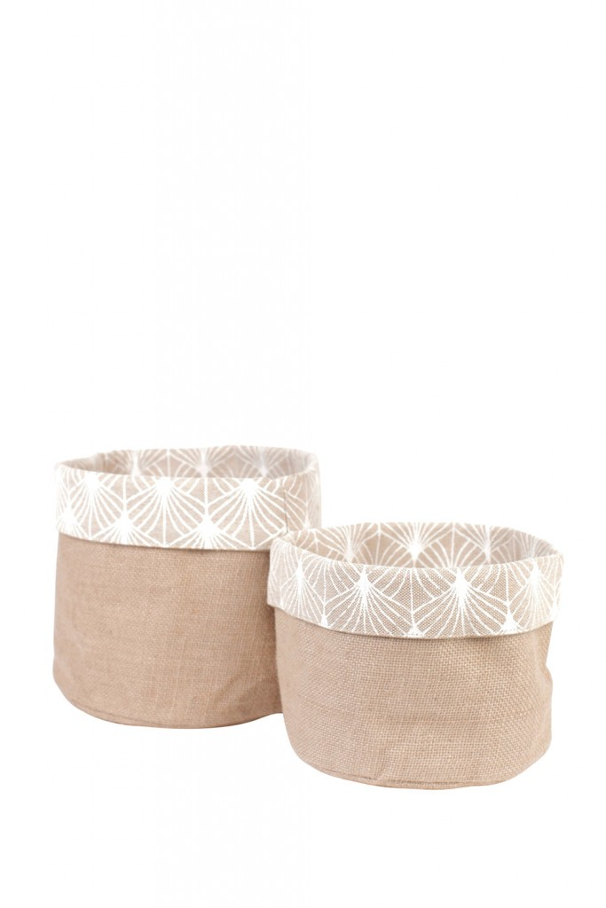 Hessian buckets in Pondicherry White, $57, thedharmadoor.com.au