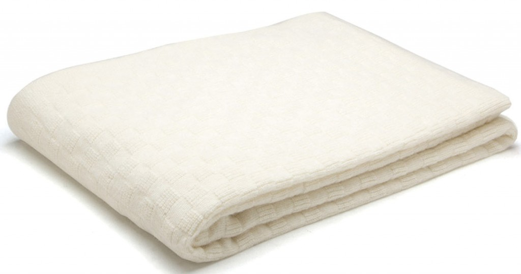 White angora throw by Bemboka, $235, petersofkensington.com.au