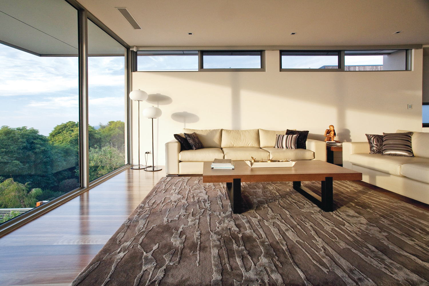 Spacious living room with stunning views.