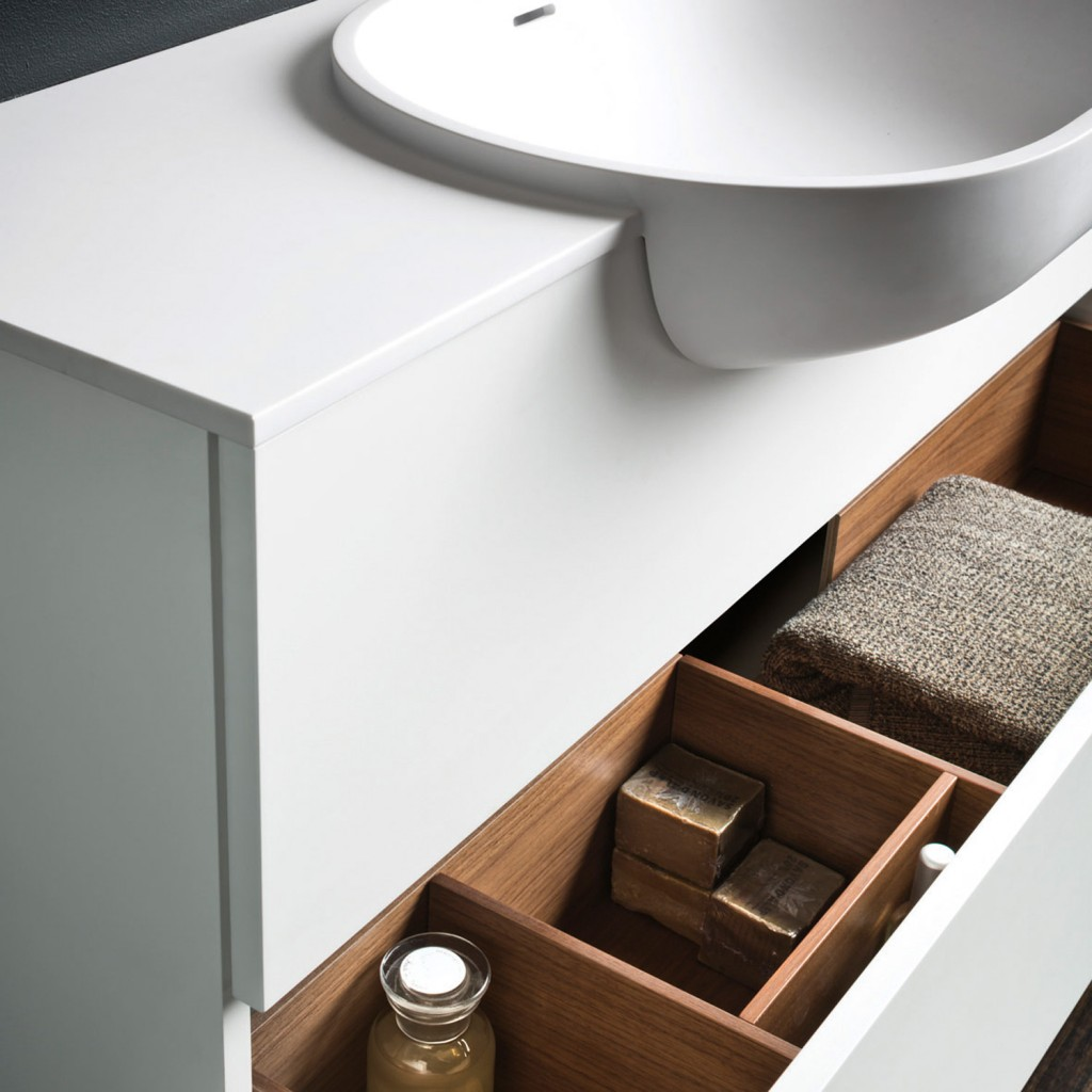 Falper Cristalplant basin and cabinet, from $4995, rogerseller.com.au