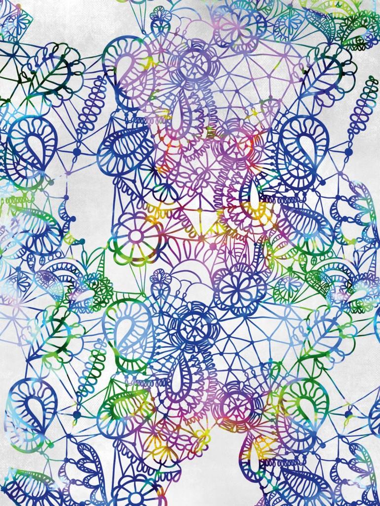 Reverse lace print in blue, $120, urbanroad.com.au