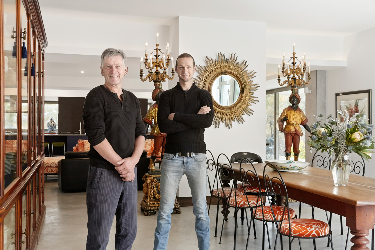 Troy and Art traded their traditional residence for a home that's the complete opposite