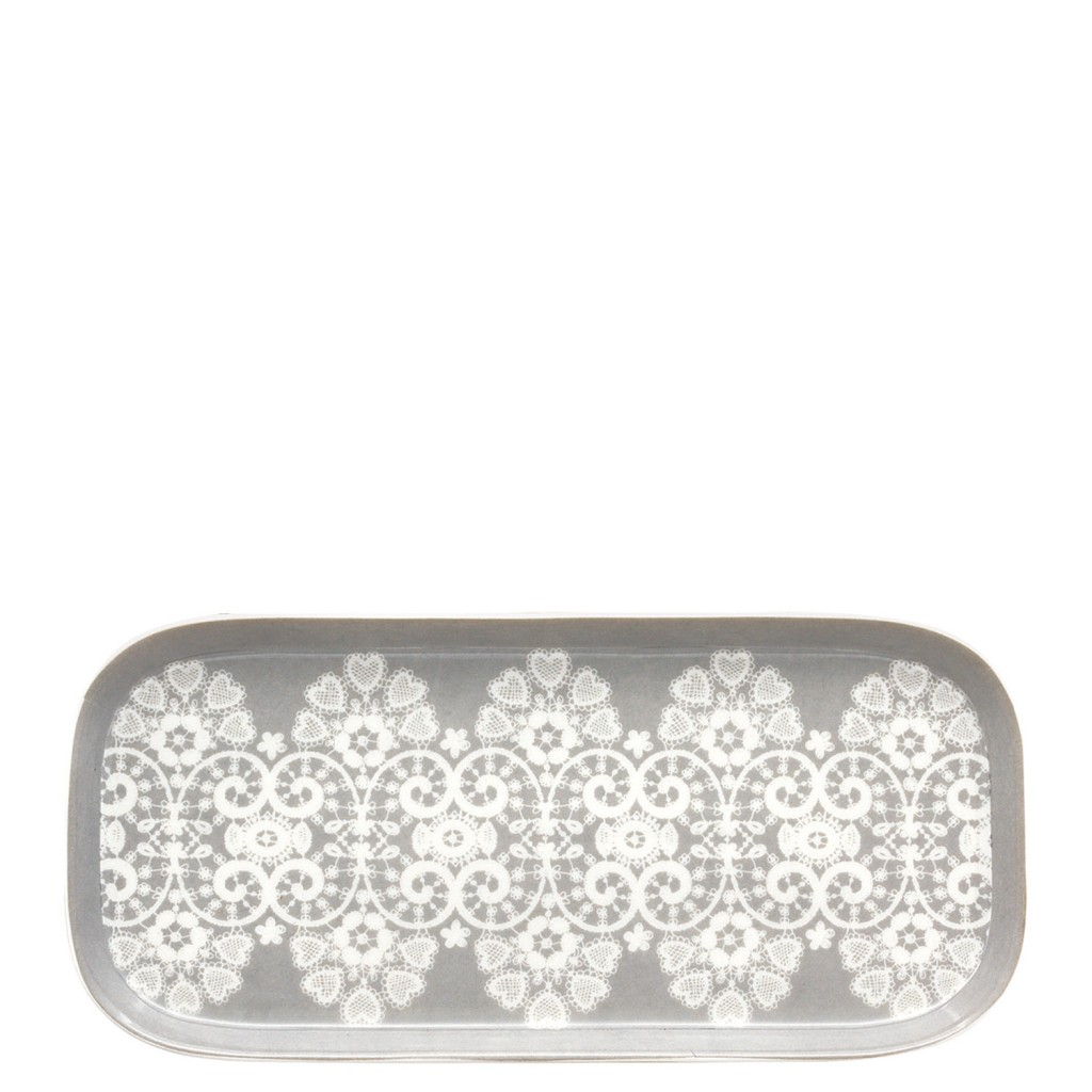 GreenGate tray in Lace Warm Grey, $24, downthatlittlelane.com.au