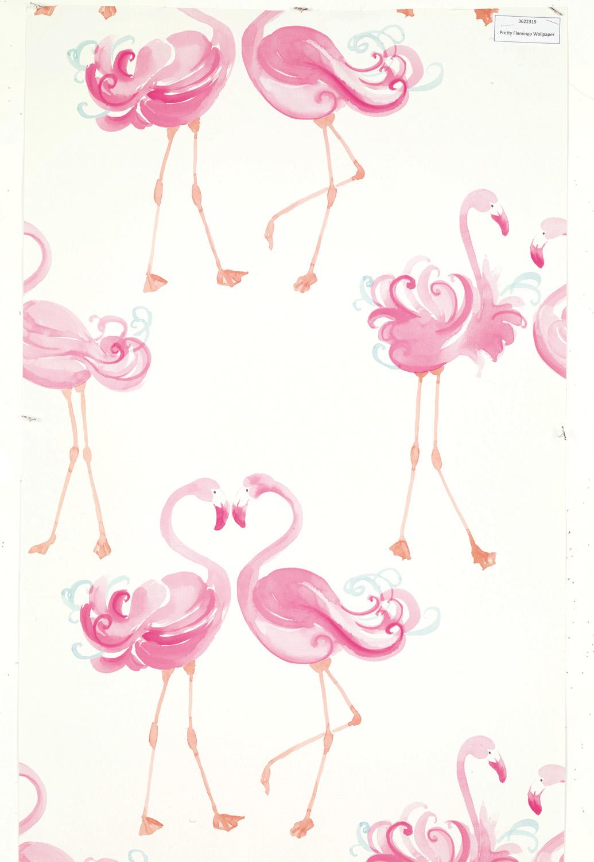 Pretty Flamingo wallpaper, $69.95, laura-ashley.com.au