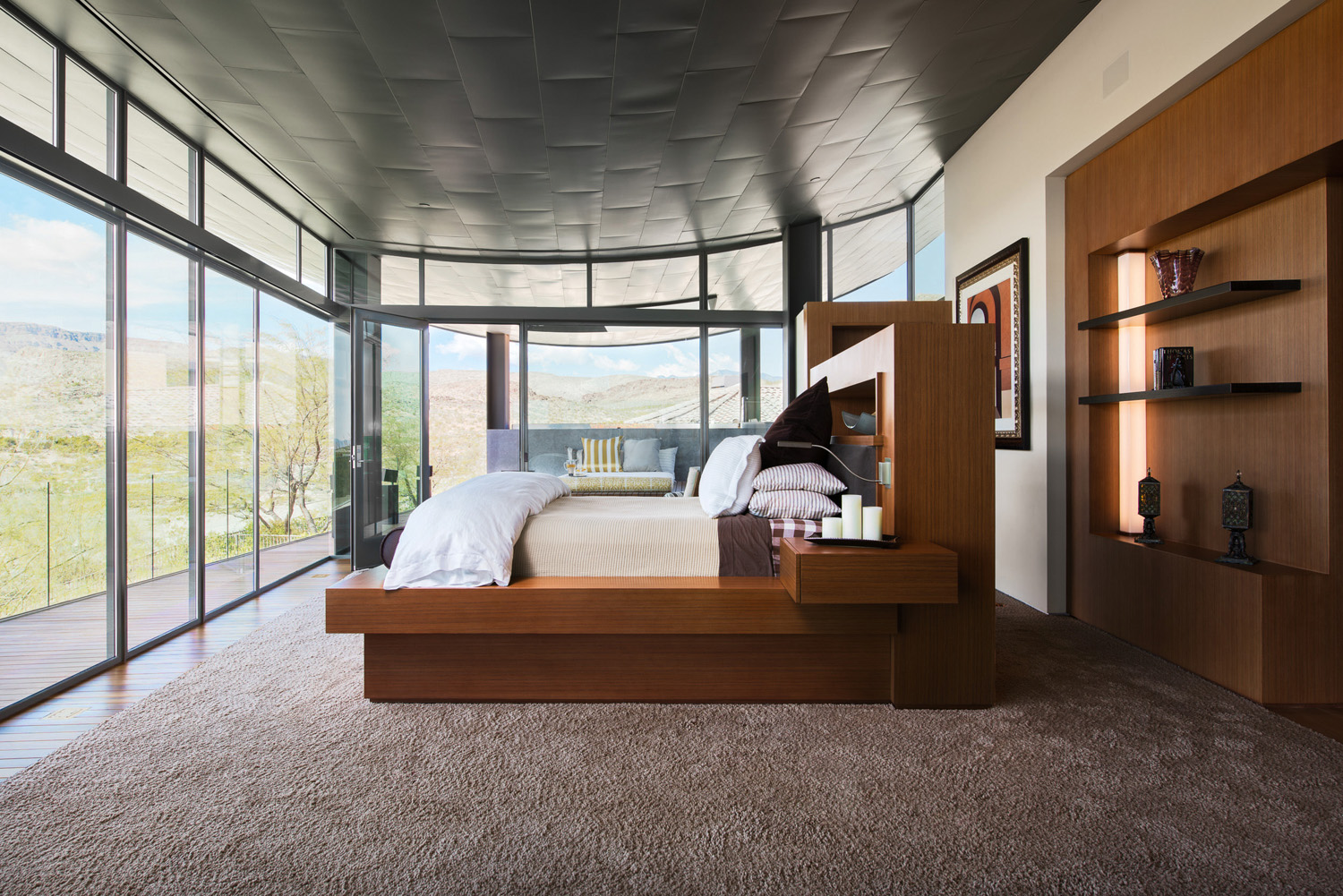 Views of the desert can be enjoyed from the comfort of your bed