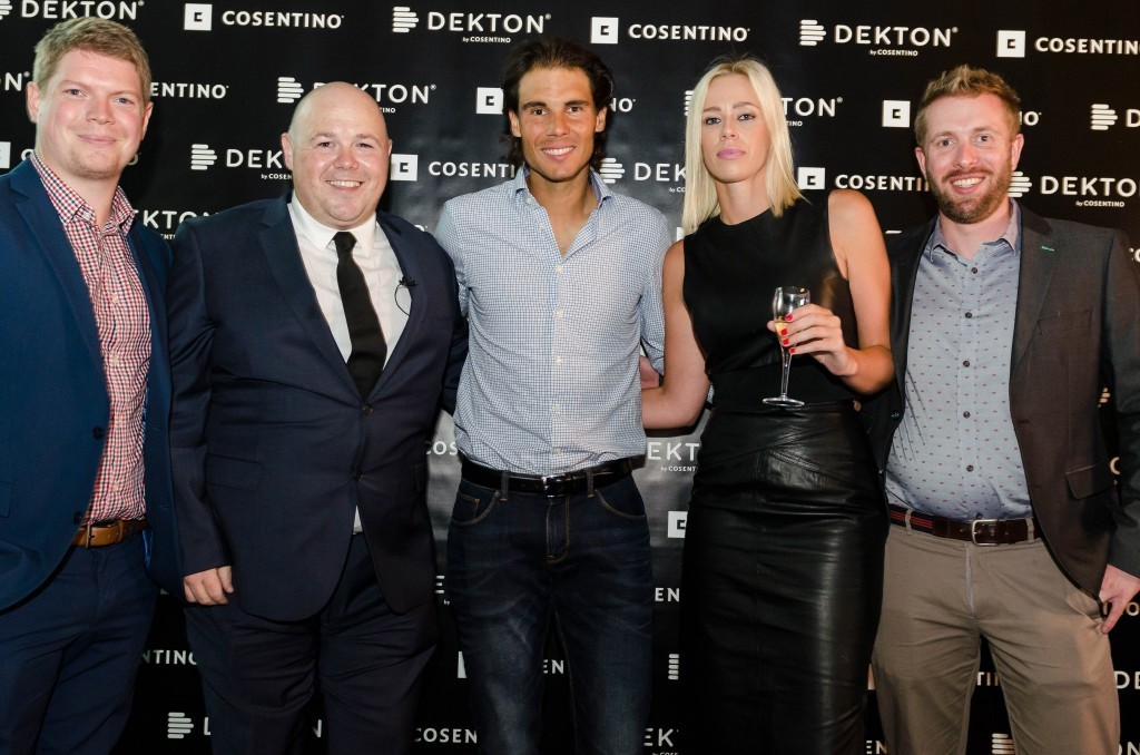 Rafael Nadal and the Consentino team at Aus open Melbourne 2016
