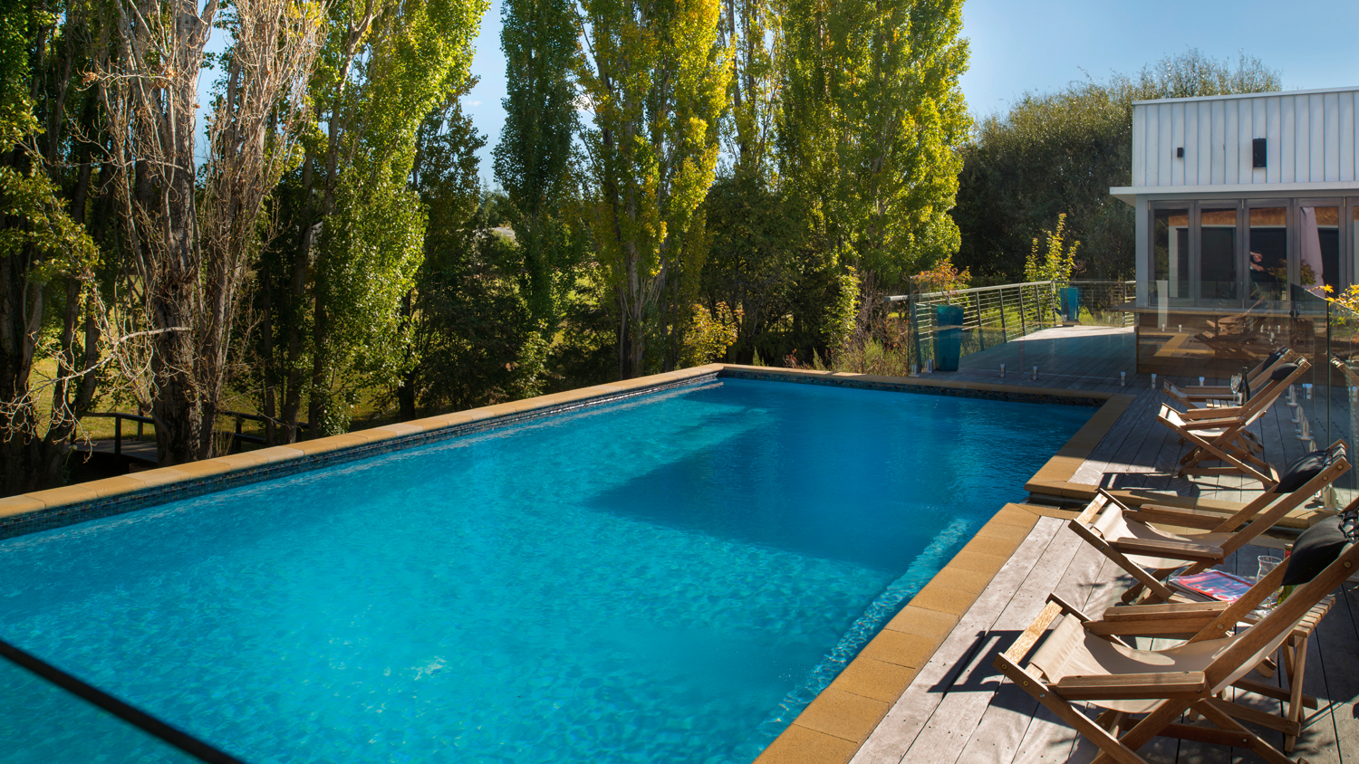An eye-catching pool design that is user-friendly and low maintenance.