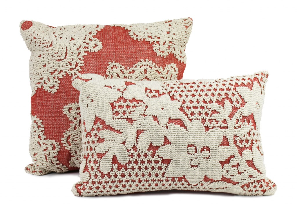 Astrid Flowers cushions in Ginger, from $42.95, wamhomedecor.com.au