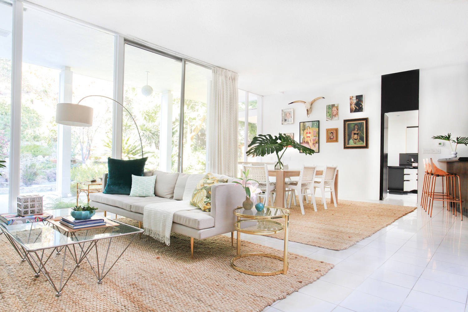 Grand windows ensure the space is always filled with natural light