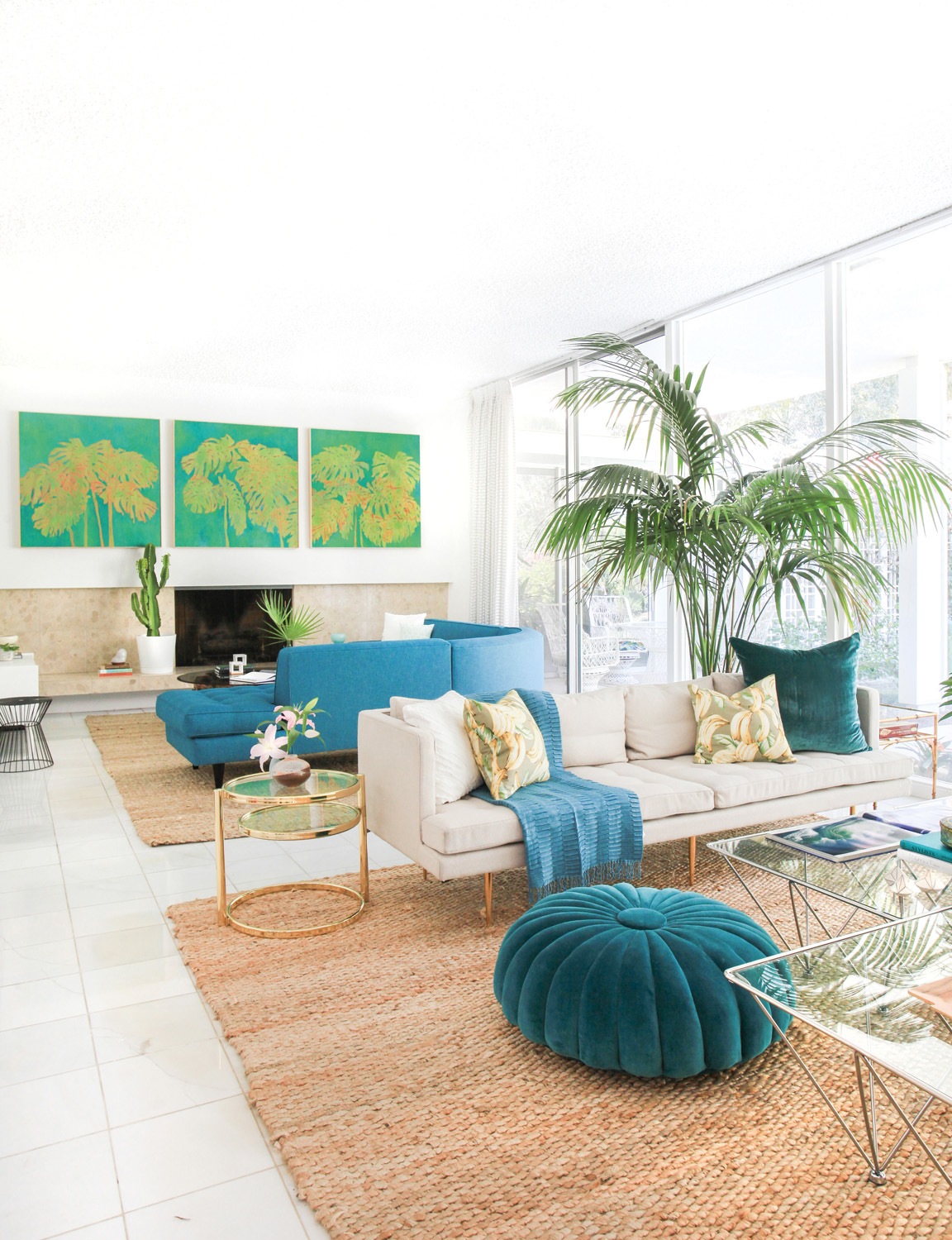 Greenery indoors brings the outside in