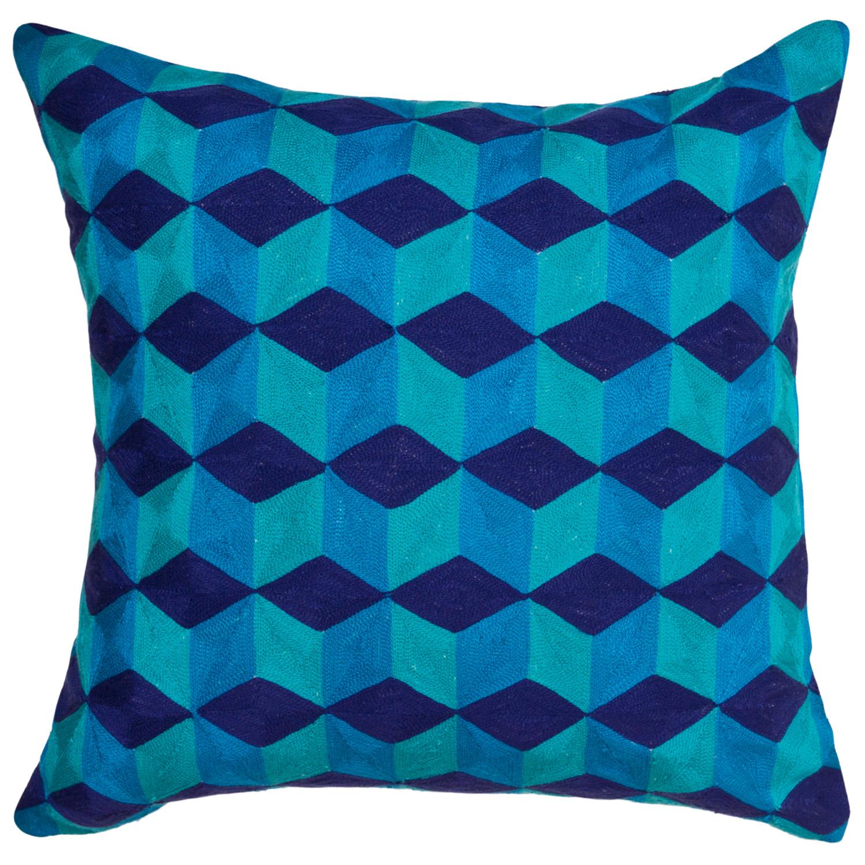 Jonathan Adler Jaipur Cubes linen cushion, $224, designstudiohome.com.au