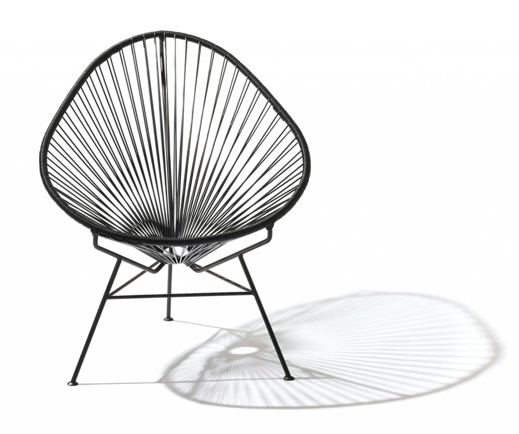 Black Acapulco chair, $495, acapulcochair.com.au
