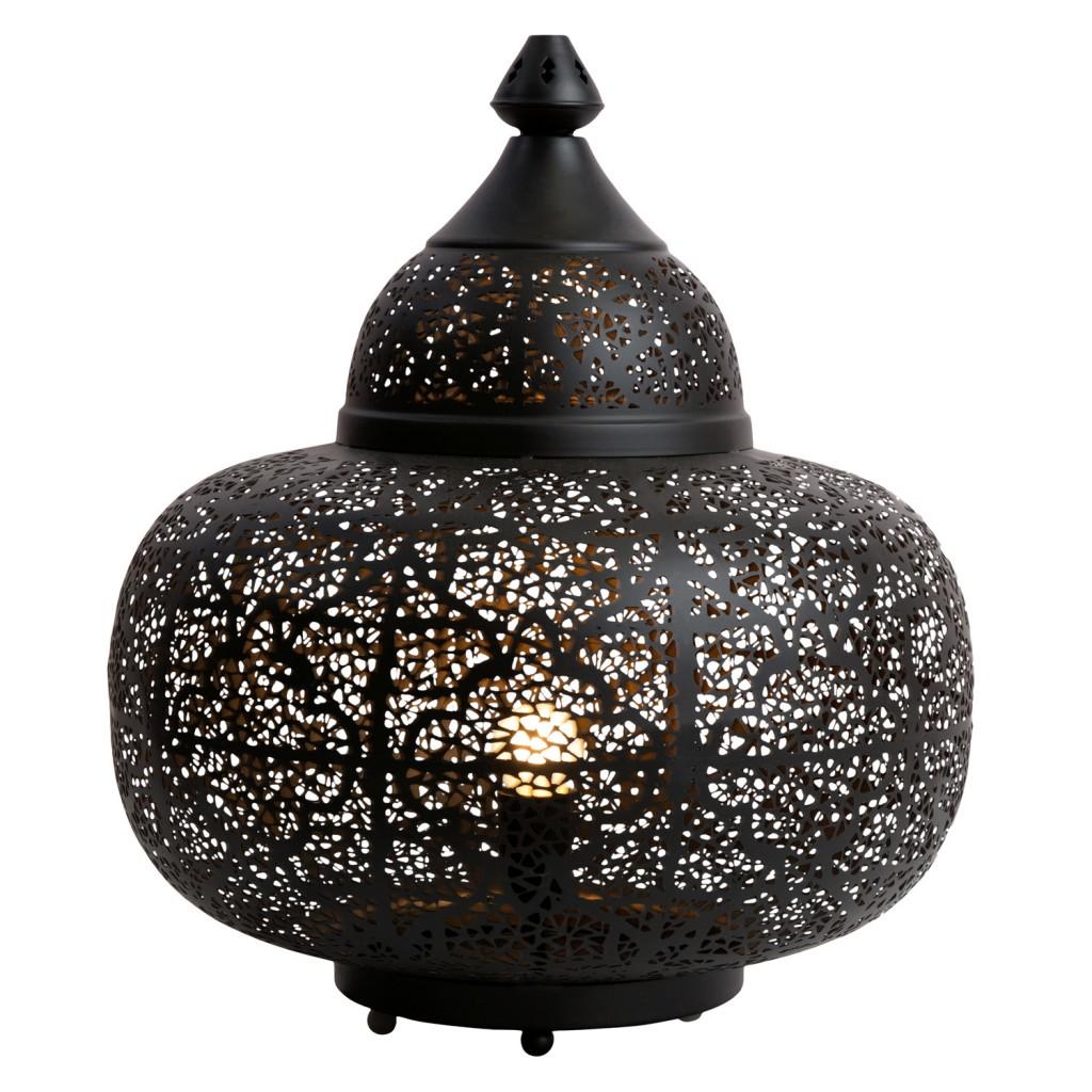 Black table lamp, $339, zanui.com.au