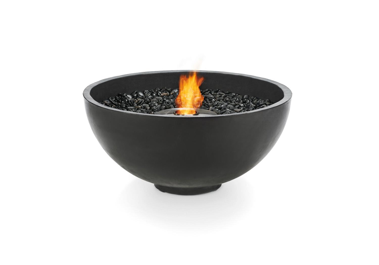 The streamlined, pebble-filled Urth from Brown Jordan Fires www.brownjordanfires.com.au